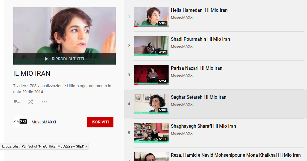 Il mio Iran, MAXXI