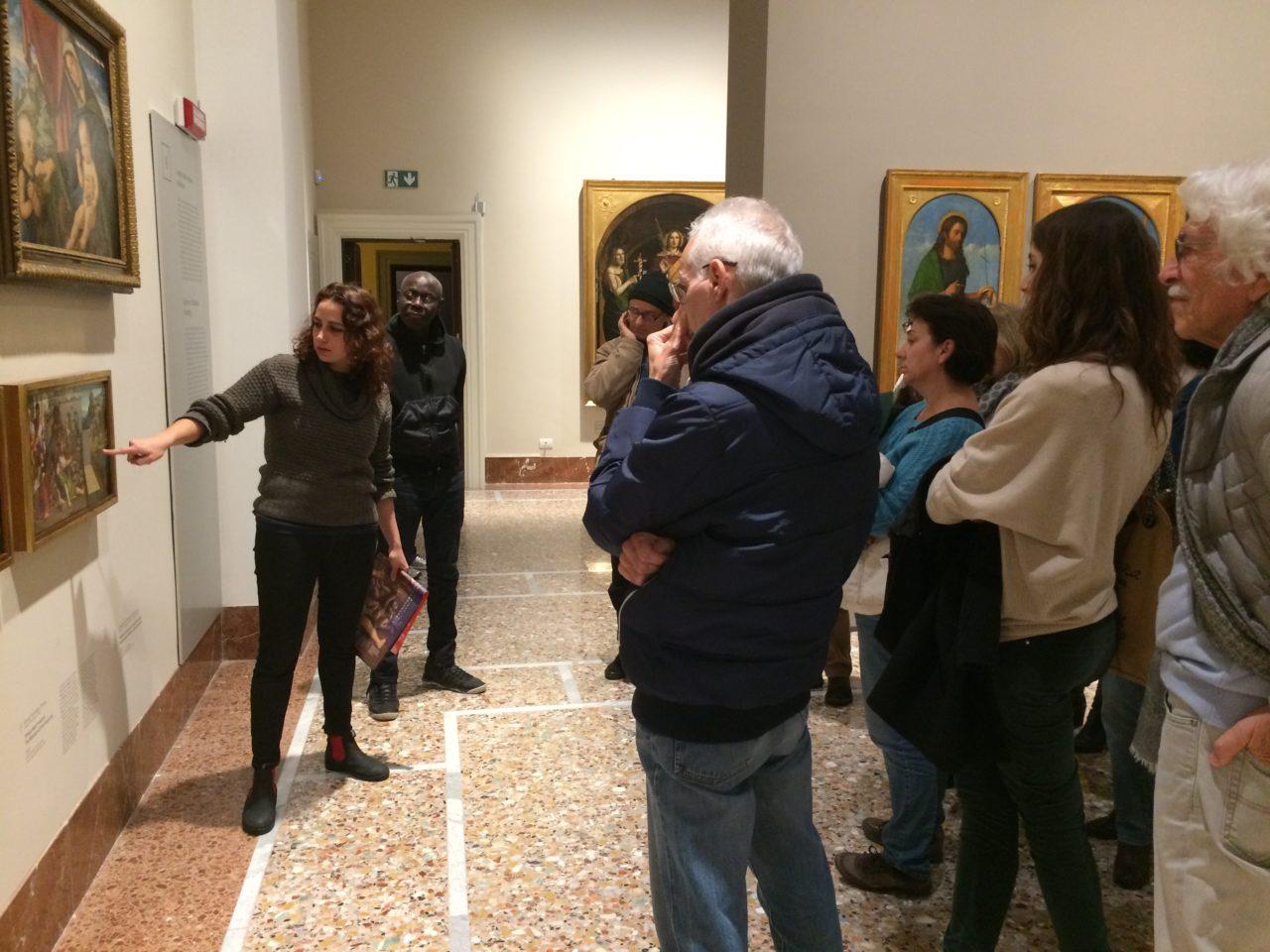 Le opere e i giorni, Accademia Carrara, narrazioni