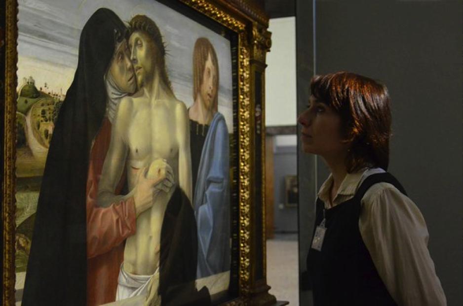 #raccontamibrera, Pinacoteca di Brera, Pietà di Giovanni Bellini