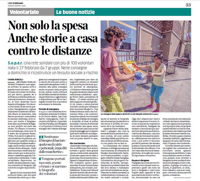 articolo Eco di Bergamo_progetto Maite